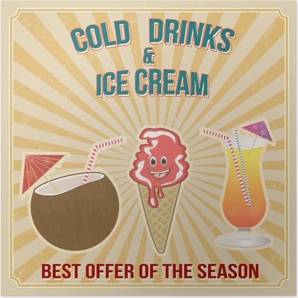 Poster Kalte Getränke und Eis Tempel • Pixers® - Wir leben, um zu ...