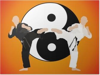 Poster Karate - duellieren (Jang)