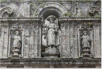 Poster Kathedrale Santiago de Compostela: Skulptur von Santiago