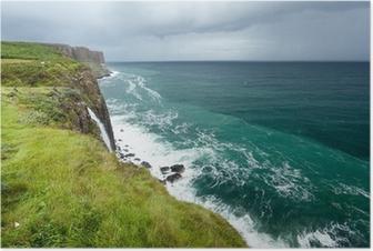 Poster Kilt Rock Meerlandschaft, Isle of Skye, Schottland