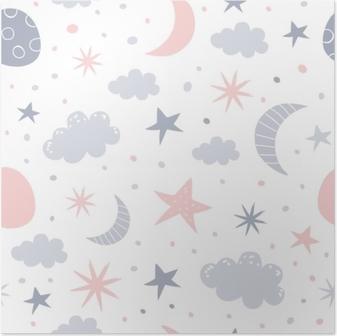Poster Kinderzimmer Muster