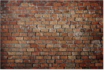 Poster Klassische schöne texturierte Ziegelmauer