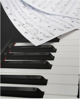 Poster Klavier mit Notenblättern