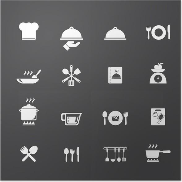 Poster Kochen und Küche Symbole • Pixers® - Wir leben, um zu verändern