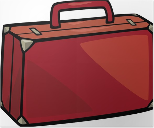 Poster Koffer clip art Cartoon-Abbildung • Pixers® - Wir ...