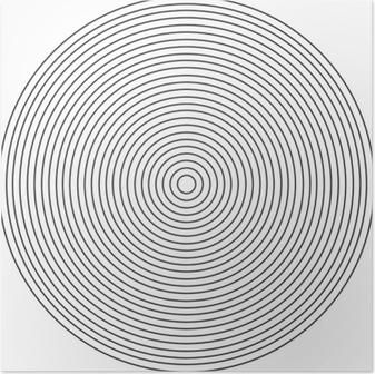 Poster Konzentrisches Kreiselement auf einem weißen Hintergrund
