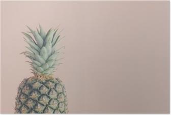 Poster Kunstansicht von frischer Ananas