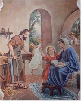 Poster L'affresco della Sacra Famiglia da chiesa del paese