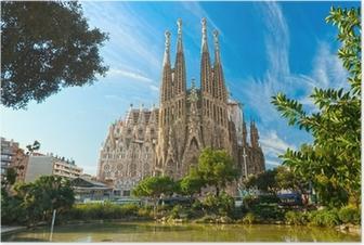 Poster La Sagrada Familia, Barcelona, Spanien.