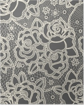 Poster Lace seamless pattern