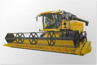 Poster Landwirtschaftliche Erntemaschine