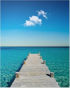 Poster Legno pontone spiaggia vacanze