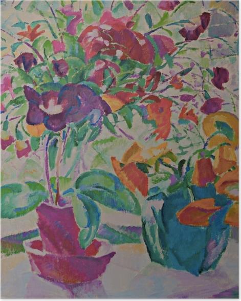 Poster Leo Gestel - Mazzo di fiori sulla finestra - Reproductions