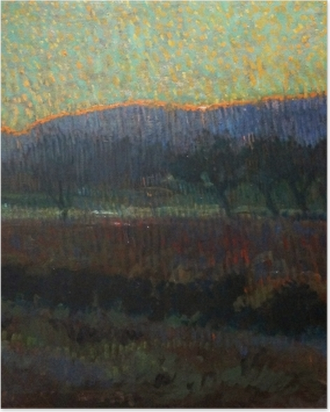Poster Leo Gestel - Tal mit Bäumen - Reproductions