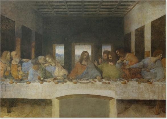 Poster Leonardo da Vinci - Das Abendmahl - Reproduktion