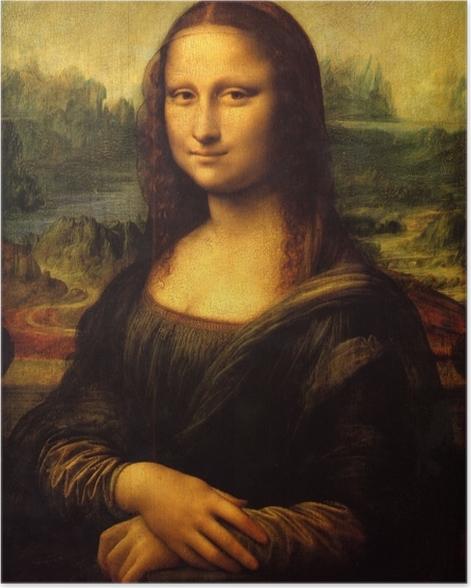 Poster Leonardo da Vinci - Mona Lisa - Reproduktion