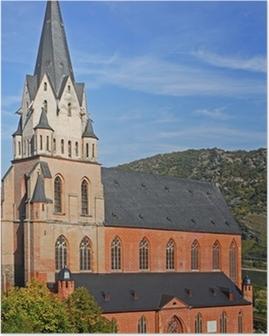 Poster Liebfrauenkirche in Oberwesel / Rhein / Rheinland Pfalz