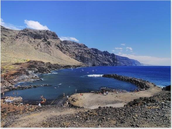Poster Los Gigantes (vista da Punta Teno), Tenerife, Isole Canarie ...