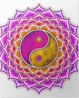 Poster Lotus Yin Yang