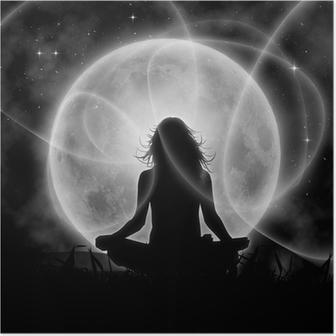Poster Luna meditazione