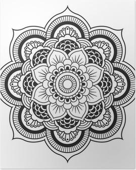 Poster Mandala. Round Ornament-Muster