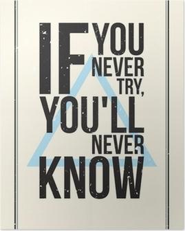 Poster Manifesto motivazione ispirazione. stile grunge