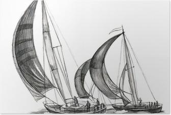 Poster Mare le barche