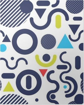 Poster Memphis Mode-Stil Farbe Hintergrund modernes Muster