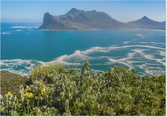 Poster Mit Blick auf Hout Bay von Chapmans Peak Drive, Südafrika