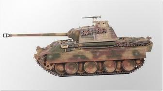Poster Modello del serbatoio Panther isoleted