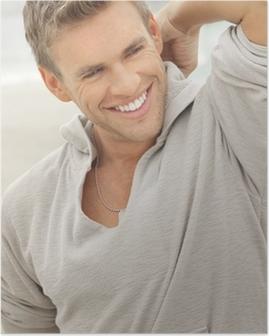 Poster Modello sorriso Maschio