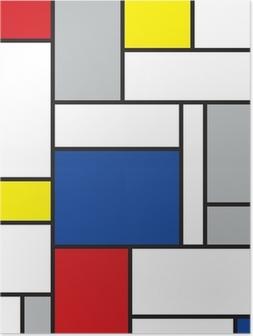 Poster Mondrian arte contemporanea
