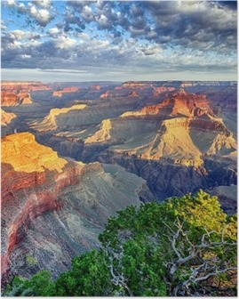 Poster Morgenstrahlen im Grand Canyon