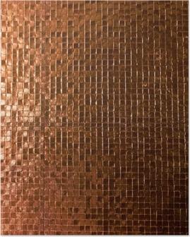 Poster Mosaik-Fliesen-Hintergrund