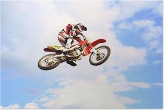 Poster Motocross in den Himmel