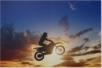 Poster Motorcircle Reiterschattenbild