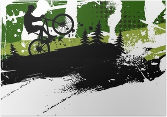 Poster Mountainbike abstrakten Hintergrund