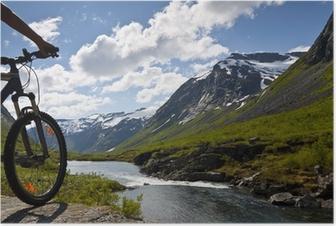 Poster Mountainbike-Fahrer Ansicht