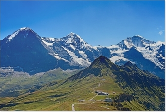 Poster Mounts Eiger, Moench and Jungfrau