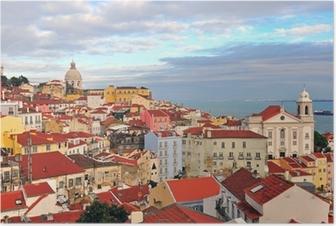 Poster Multicolor Häuser von Lissabon
