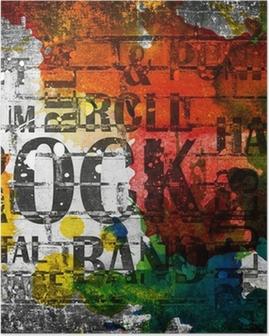 Poster Musica rock grunge manifesto
