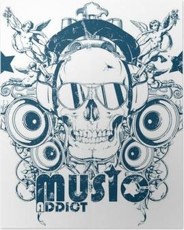 Poster Musik Süchtigen