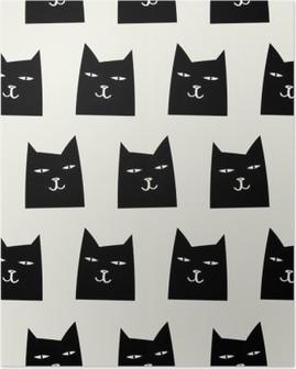 Poster Nahtlose Katze Muster