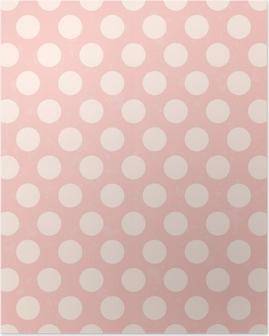 Poster Nahtlose Polka Dots Grunge-Textur
