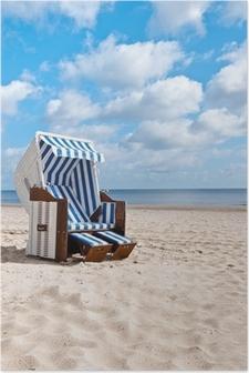 Poster Neuer Strandkorb hochkant