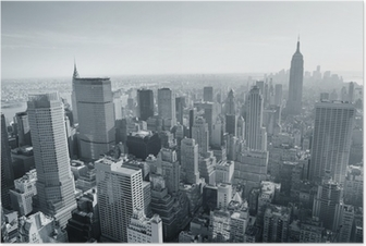 Poster New York City skyline di bianco e nero