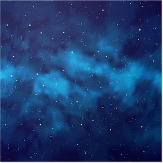 Poster Night Sky with Stars