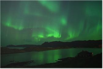 Poster Nordlichter über Nordkap. 8. Oktober 2013