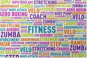 Poster Nuage de mots, Fitness