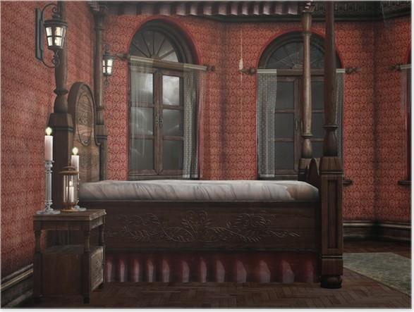 schlafzimmer kerzen, poster old schlafzimmer mit kerzen und lampen • pixers® - wir leben, Design ideen